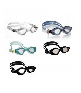 Gafas de piscina Cressi Fox en color negro, transparente, azul o aguamarina al mejor precio en tu tienda online de natación www.chemasport.es