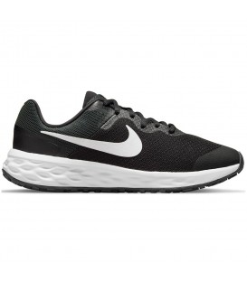 Zapatillas Nike Revolution 6 para mujer y niño en color negro blanco para running entrega 24-48 horas