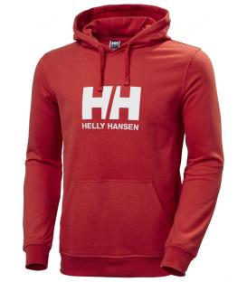 Sudadera para hombre Helly Hansen HH Logo Hoodie en color rojo disponible al mejor precio en tu tienda online de natación www.chemasport.es