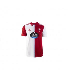 Camiseta Adidas Celta temporada 2021/2022 para niño en color blanco y rojo disponible en 24/48 horas