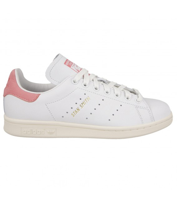 adidas stan smith blanco y rosa