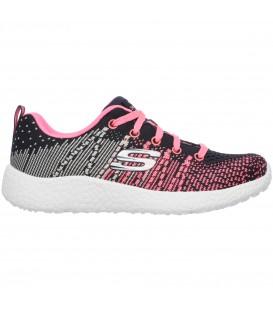 zapatillas skechers burst ellpise nina rosa charcoal pink