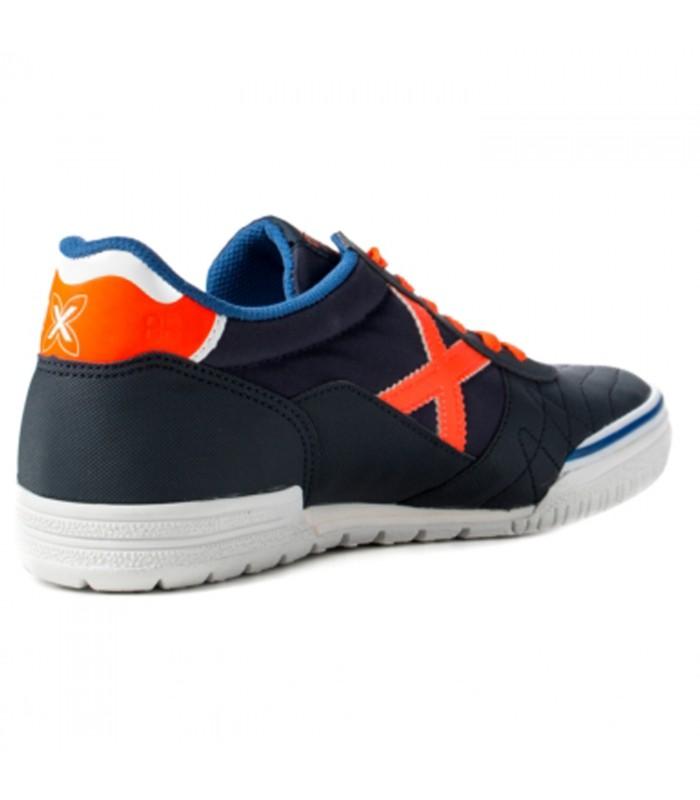 8a870fd167c15 Zapatillas de fútbol sala Munich G3 para hombre de color azul naranja