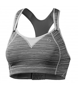 BROOKS REBOUND RACER top mujer gris 3500037-011