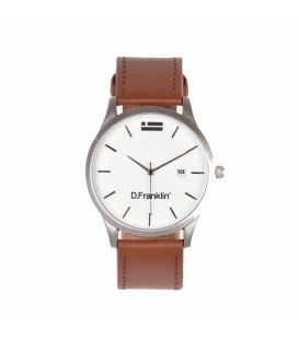 RELOJ D. FRANKLIN IRVINE LEATHER STEEL GVK AWAT 109 95 UNISEX MARRON