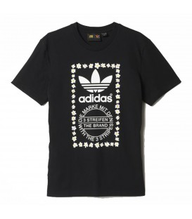 ADIDAS PHARREL WILLIAMS GRAPHIC AO3000 NEGRA CAMISETA MUJER