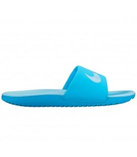 Chanclas Nike Kawa GS 819353-401 color azul para mujer y niños. Otras chanclas de piscina para niños en Chema Sport.