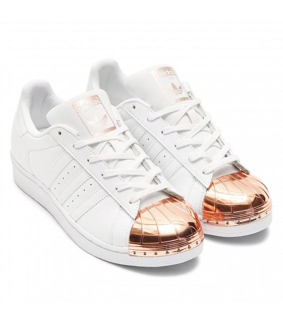 adidas Superstar Puntera Dorada Metal Toe Blancas