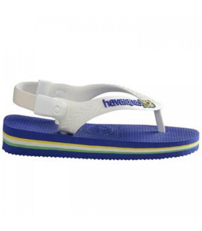 63041be97 Sandalias Havaianas Brasil Baby Logo Color Azul 4119727