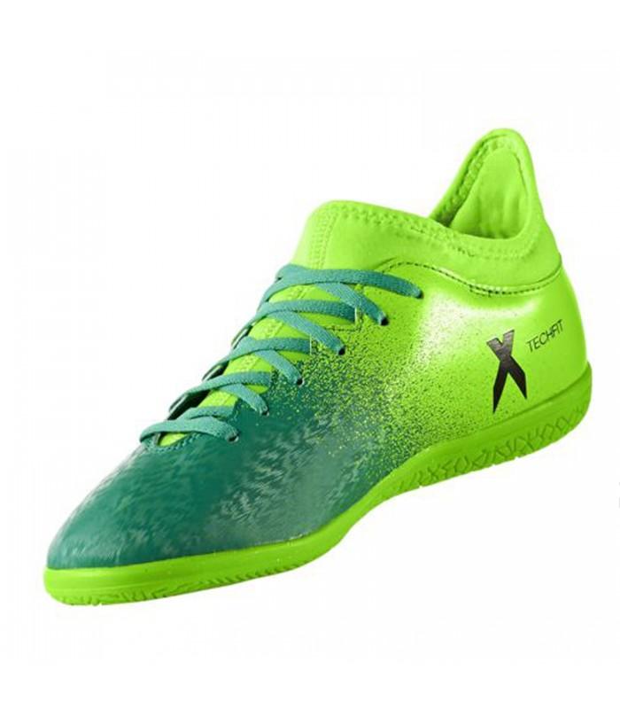 c2bfbfc6 Zapatillas de fútbol sala Adidas X 16.3 IN J de color verde