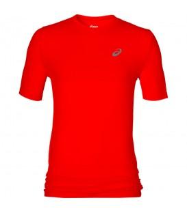 Camiseta de running para hombre Asics Fuzez Seamless de color rojo. ¡Da lo mejor de ti co esta camiseta de Asics! Envíos a Península en 48 horas