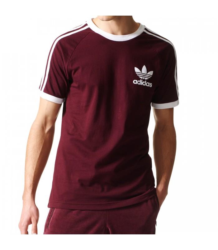 adidas Originals Camiseta granate Trefoil Hombre