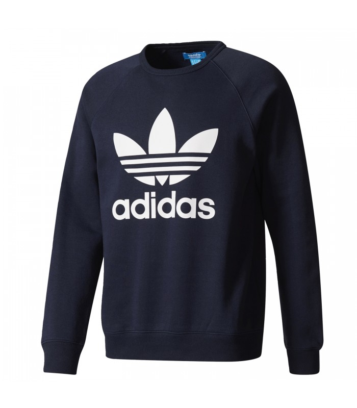Sudadera Adidas Trefoil Crew para hombre de color azul 1541cda8b99