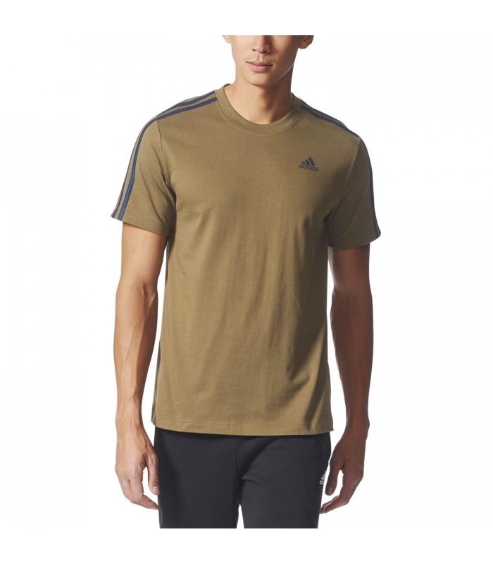 3 Camiseta Color Verde Para Adidas Oliva En Tee Stripes Hombre 5qgqT