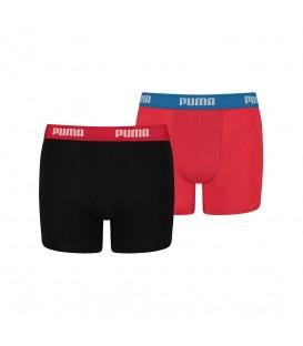 Bóxer Puma Basic Junior 525015001 210 en color negro y rojo. Boxers Puma en Chema Sport