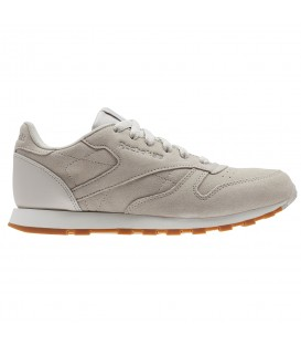 ZAPATILLAS REEBOK CL LEATHER SG BS8952 GRIS MUJER