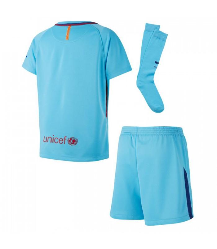 Kit para niños Segunda Equipaciómn oficial FC Barcelona 2017 18 6d38aec984ac7