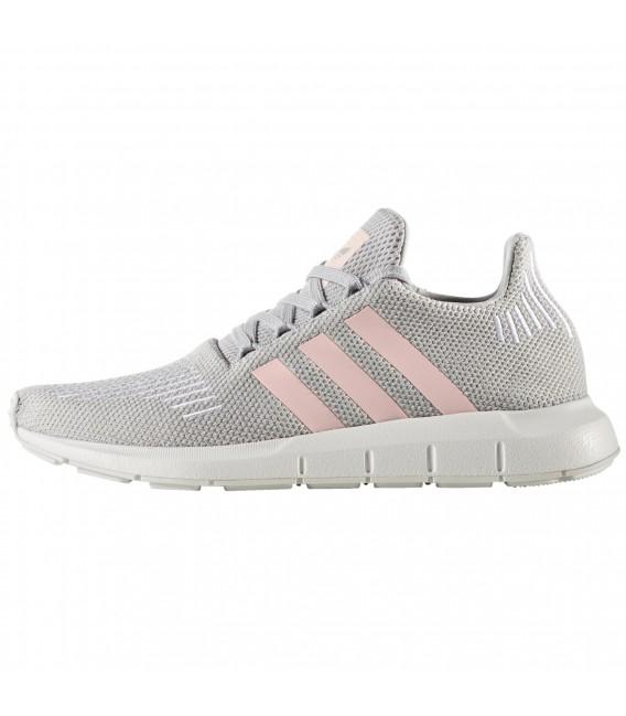 zapatillas adidas mujer gris y rosa
