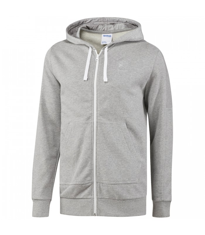 Chaqueta con capucha Reebok F FT FZ de color gris para hombre