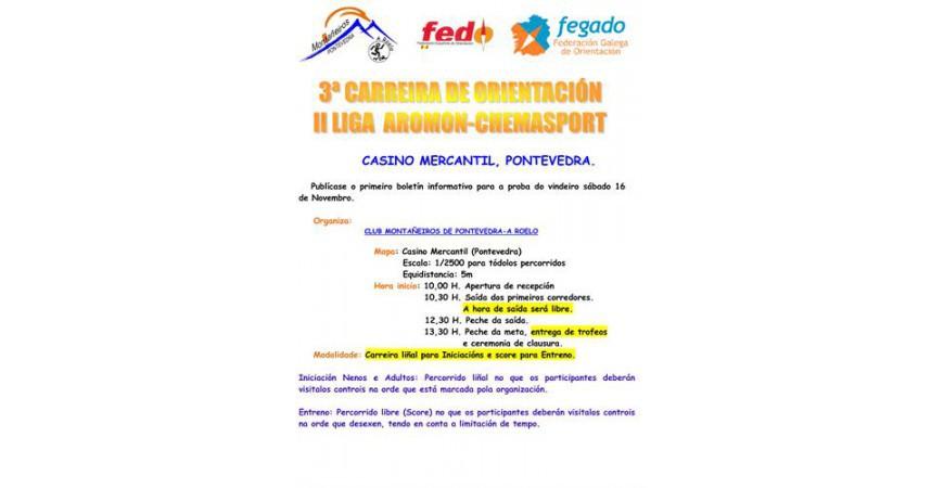 3ª CARRERA DE ORIENTACIÓN II LIGA AROMON-CHEMASPORT